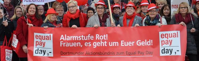 """""""Deutschland ist das Schlusslicht in der EU"""": Dortmunder Aktionsbündnis fordert Entgeltgleichheit von Frau und Mann"""