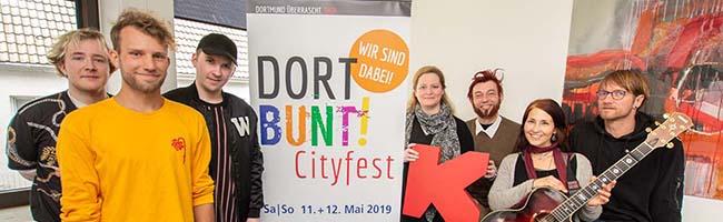 Auch beim vierten DORTBUNT!-Cityfest rocken lokale Bands wieder auf der Dortmund.macht.lauter.-Bühne des Kulturbüros