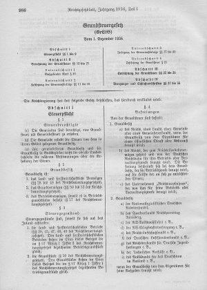 Grundsteuergesetz von 1936 Reichsgesetzblatt 1936-1 Quelle Wiki