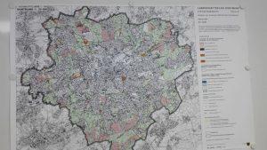 Der Festsetzungsplan: Verzeichnet ist alles, was für den Landschaftsplan beschlossen werden soll: Foto: A. Steger