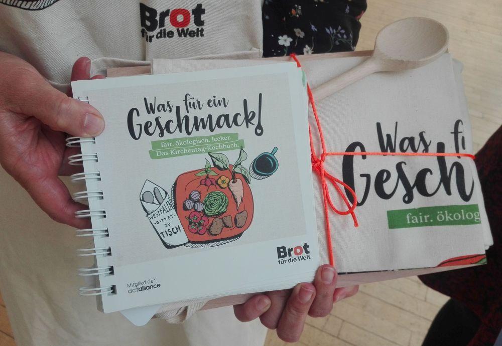 Westfälisches Kochbuch mit Zutaten als faire Produkte