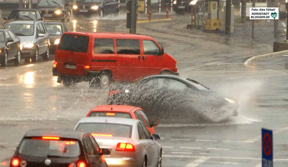 Wetterphänomene wie Starkregenereignisse häufen sich auch in Dortmund. Foto: Alex Völkel