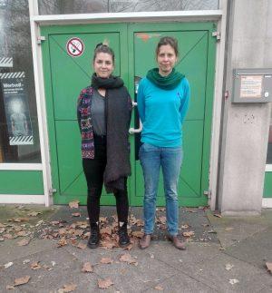 Die Regisseurinnen und Dramaturginnen Lioba Sombetzki und Isabel Stahl. Foto: Angelika Steger