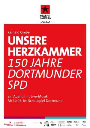 """Plakatmotiv zum Stück """"Unsere Herzkammer""""."""