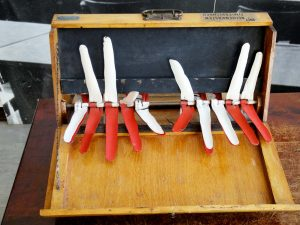 Fingerrechenmaschine aus den 1920er Jahren.