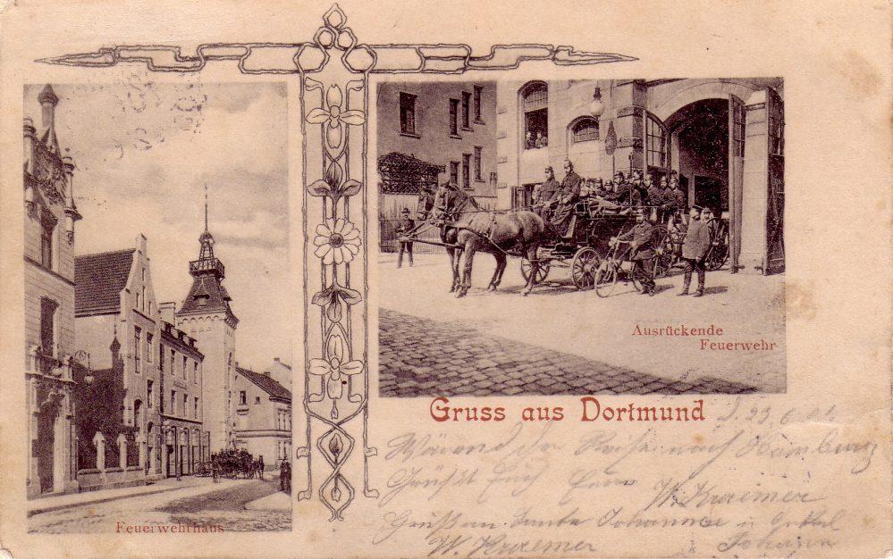 Feuerwache an der Silberstraße, Ansichtskarte, 1901 (Sammlung Klaus Winter)