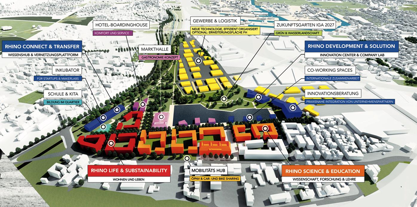 So stellen sich Stadt, IHK und Thelen-Gruppe den künftigen Zukunftscampus vor.