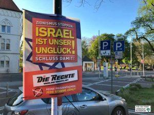 """Die Partei """"Die Rechte"""" setzt ihre antisemitische Kampagne gegen Israel und den Zionismus fort."""