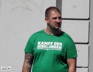 """Parteifunktionär Alexander Deptolla ist Organisator des """"Kampf der Nibelungen"""". Foto: Alex Völkel"""