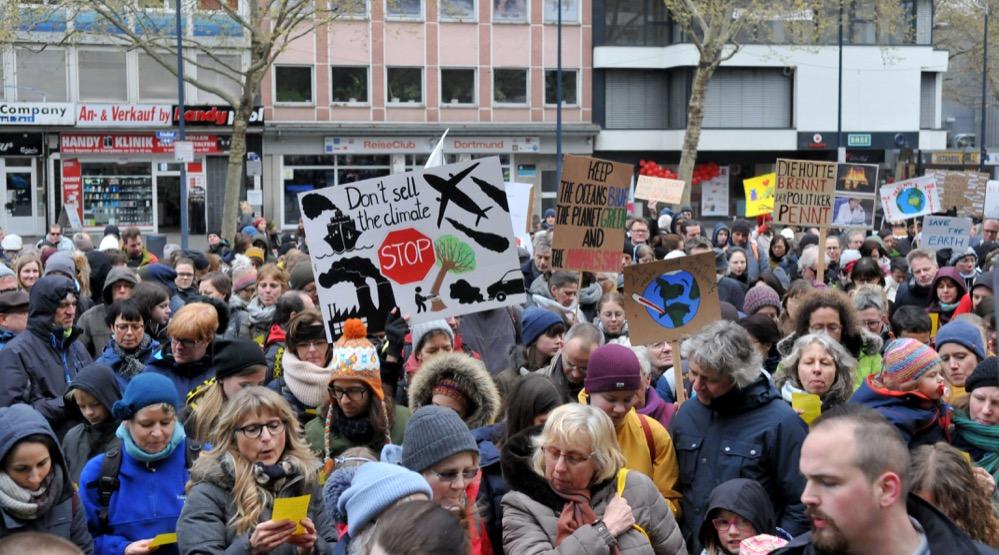 Am Samstag fand die erste Klima-Demo von