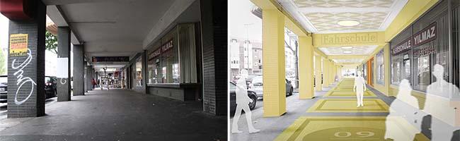 EigentümerInnen und MieterInnen reden mit bei der Neugestaltung der Arkaden an der Rheinischen Straße