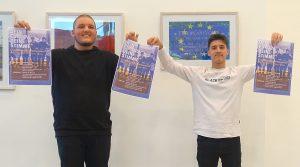 Engagiert für Europa (v.l.): Almir Murati und Vincenzo Menna, Teilnehmer des Workshops