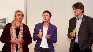 Tina Gerding von IN VIA Dortmund, Susanne Smolen und Alwin Buddenkotte.