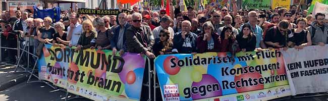 Bunter Protest gegen Neonazis – Aufmarsch in Hörde fiel deutlich kleiner aus, als von Rechtsextremisten erhofft