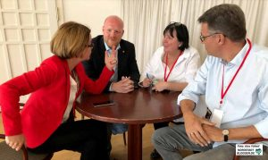Müssen sich die Karten neu legen: Die SPD-Führung mit Nadja Lüders, Jens Peick, Christa Becker-Lettow und Thomas Westphal.