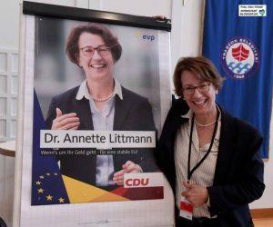 Dr. Annette Littmann (CDU) hatte sich auf einem aussichtslosen Platz um ein Mandat im EU-Parlament beworben.