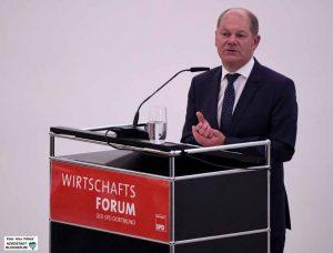 Olaf Scholz, Bundesminister für Finanzen und Vizekanzler, war nach Dortmund gekommen.