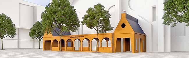 """Stadtkirche erhält 30 Meter langen Anbau – TU Dortmund errichtet für Kirchentag """"stadt paradies sanktreinoldi"""""""