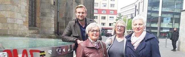 St. Petri Kirche: Sprechender Brunnen in der Innenstadt unterhält seit einigen Wochen ahnungslose PassantInnen