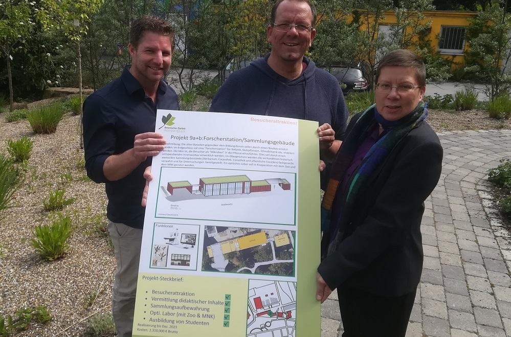 Rombergpark Stefan Sirigu, Dr. Patrick Knopf und Stadträtin Birgit Zoerner