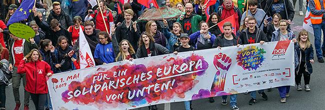 Am 1. Mai gilt damals wie heute: Die DGB-Forderungen nach sozialer Gerechtigkeit sind noch lange nicht erfüllt