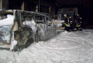 Um die immer wieder auflodernden Flammen zu ersticken, setzte die Feuerwehr auch Unmengen an Löschschaum ein. Fotos: Feuerwehr Dortmund