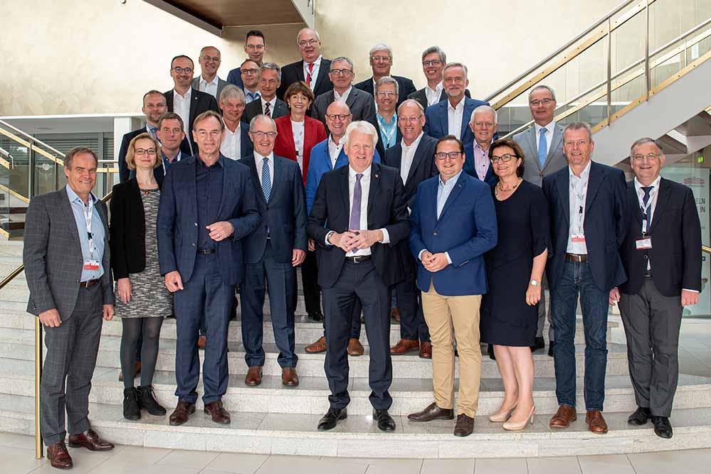 OB Ullrich Sierau empfing das Präsidium des Deutschen Städtetags. Foto: Roland Gorecki