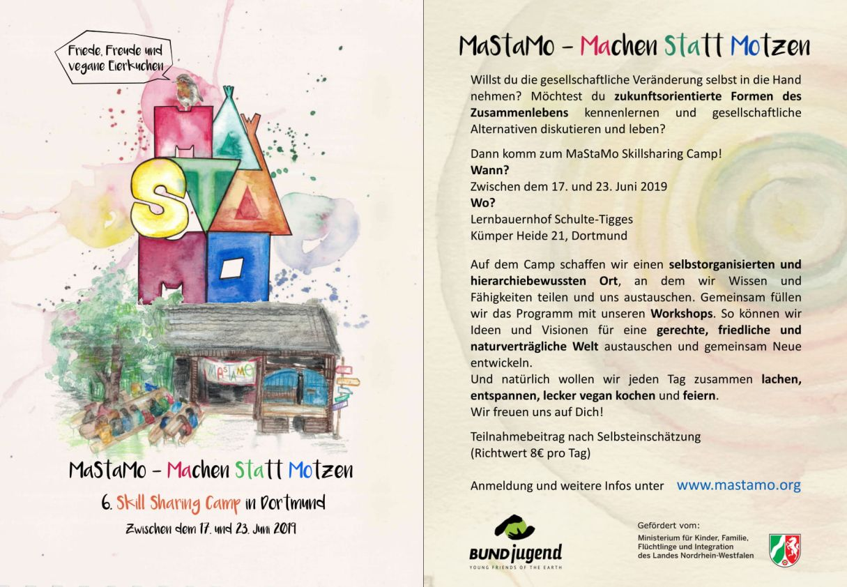 Flyer zum Mastamo-Camp