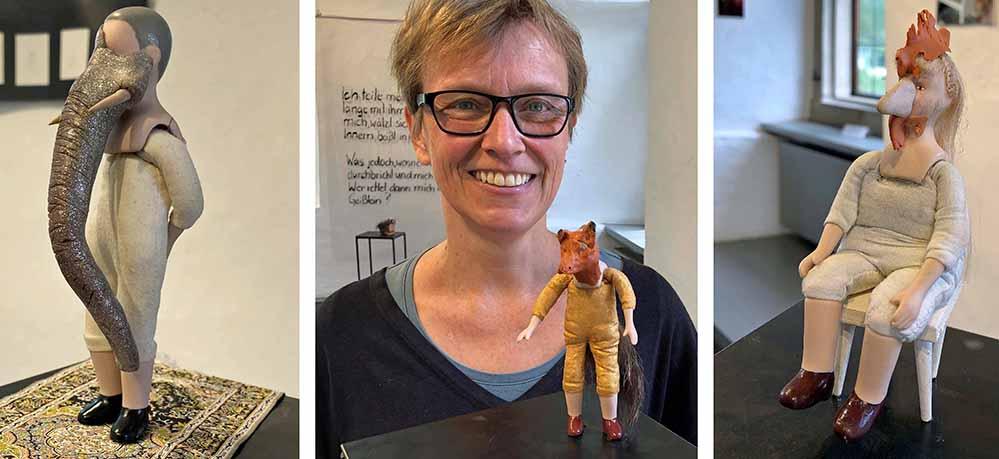 """Mari Schumann eröffnet Sonntag ihre Ausstellung """"inwendig"""" am Sonntag. Fotos: Joachim vom Brocke"""
