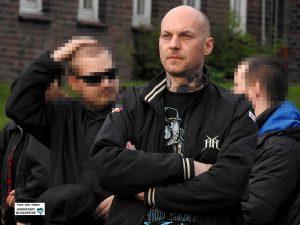 """Neonazi Marco G., Frontmann der Rechtsrock-Band """"Oidoxie"""", gehört zu den Mitbegründern von """"Combat 18"""" in Dortmund ."""