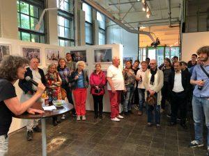 """Depot-Vorstand Heide Kemper begrüßte die Gäste im Rahmen der Reihe """"Depot stellt vor"""". Foto: Alex Völkel"""