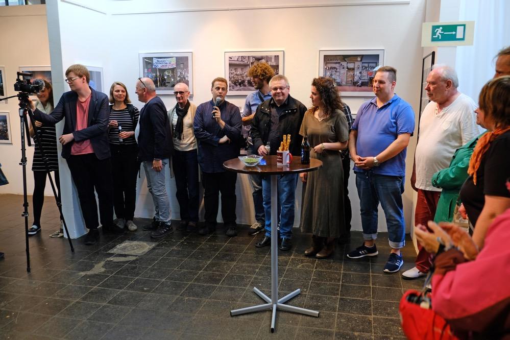 Den Aktiven von Nordstadtblogger wurde von den Gästen für ihr Engagement gedankt. Foto: Uwe Bitzel