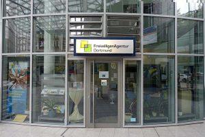 Das Ladenlokal der FreiwilligenAgentur Dortmund in der Berswordthalle. Foto: Sascha Fijneman