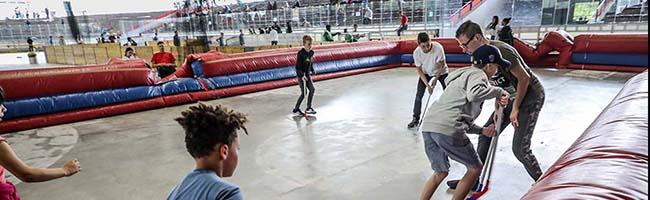 FOTOSTRECKE: Sport, Spaß und Erlebnis bei der Kinderferienparty 2019 im Eissportzentrum Westfalen