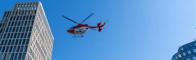 Rettungshubschrauber landet auf dem Wallring in Dortmund – Patient aus Warstein wurde eingeflogen – lange Staus