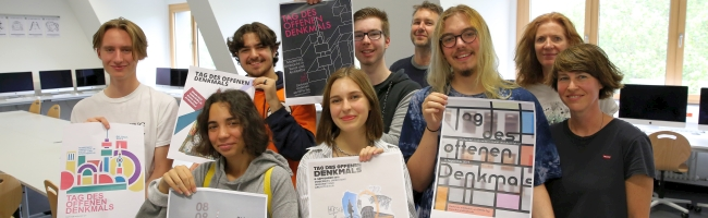 Tag des offenen Denkmals – neues Design 2019 nach Bauhaus-Motiven von SchülerInnen des Fritz-Henßler-Berufskollegs