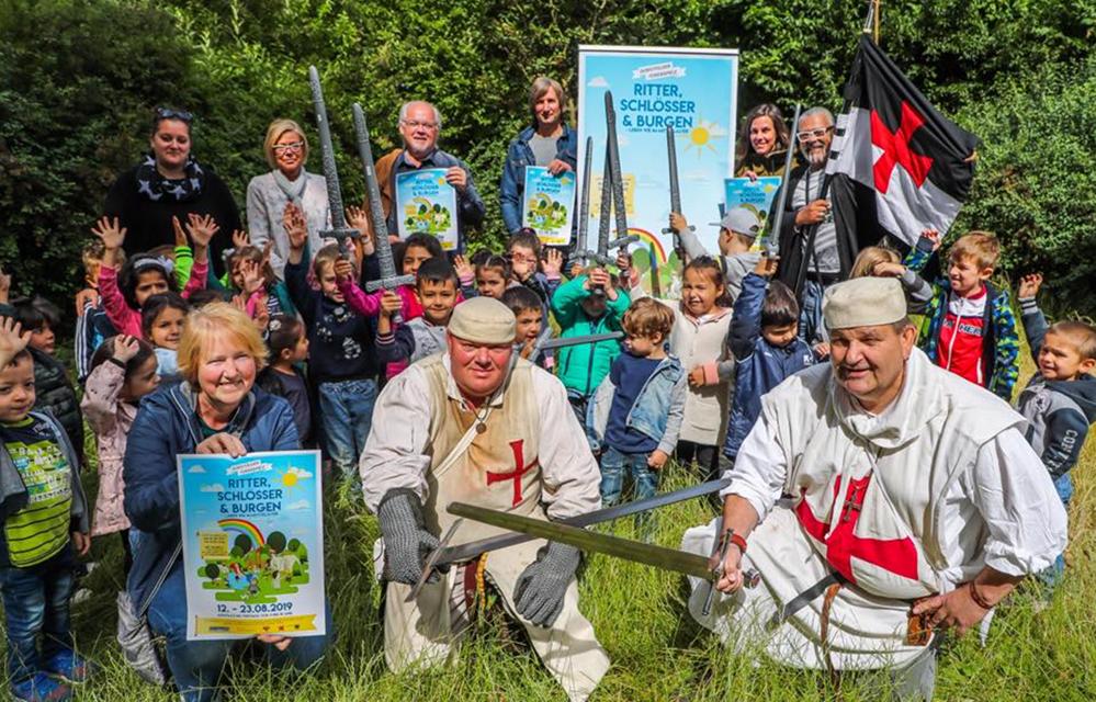 """Unter dem Motto """"Ritter, Schlösser, Burgen – Leben wie im Mittelalter"""" laufen die Ferienspiele. Foto: Stephan Schütze"""