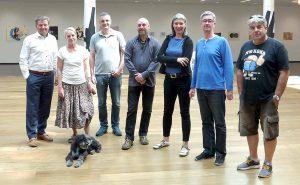 Insgesamt 12 KünstlerInnen aus Novi Sad präsentieren ihre Arbeiten in der Big Gallery in Dortmund. Fotos: Alexander Pohl/ VG Bild-Kunst