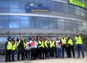 Trotz der Repressionen treten Teile der Belegschaft weiterhin in den Streik. Fotos: privat