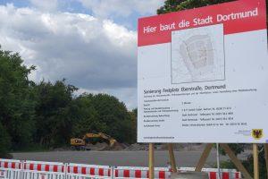 Die Bauarbeiten auf dem Festplatz Eberstraße werden rund eine Million Euro kosten. Fotos (2): Thomas Engel
