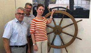 Präsentieren Hoesch maritim im Hoesch.Museum: Wolfgang E. Weick, Hans Wacha, Isolde Parussel. Fotos: Joachim vom Brocke