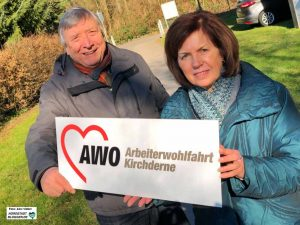 Bodo Champignon und Renate Riesel engagieren sich seit Jahrzehnten für die AWO Kirchderne.