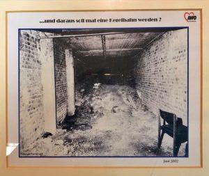Im ehemaligen Kokslager unter der Turnhalle wurde die Kegelbahn eingerichtet. (Repro)