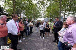 Die CDU-Fraktion und BezirksvertreterInnen informierten sich bei der EDG.