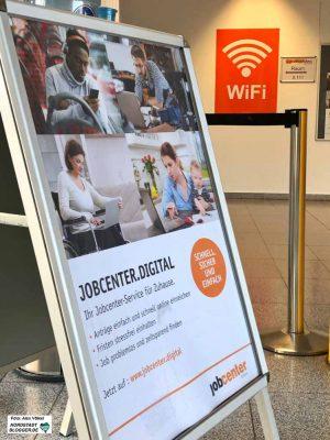 In Sachen Digitalisierung hinkt die Arbeitsagentur dem Jobcenter noch hinterher.