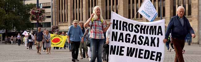 Hiroshima-Tag in Dortmund: erinnerndes Gedenken – und Forderung nach striktem Verbot aller Atomwaffen weltweit