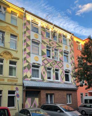 Roma-Fassade in der Schleswiger Straße