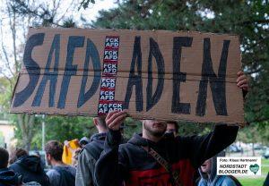 AFD Bürgerdialog im Dietrich-Keuning-Haus und Gegenveranstaltung. Gegenprotest