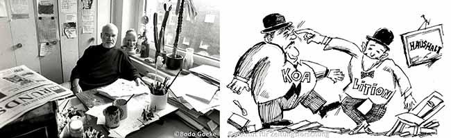 Spitze Feder: Institut für Zeitungsforschung erhält die Karikaturensammlung von WR-Zeichner Bernd Gutzeit