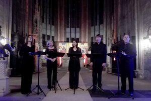 Das Ensemble Opella Nova beim Konzert in der Marienkirche zur Museumsnacht. Foto: A. Steger